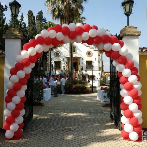arco de globos redondos para entrada Marktel Vodafone