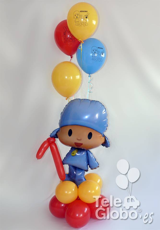 ramo de globos Pocoyo primer cumpleaños