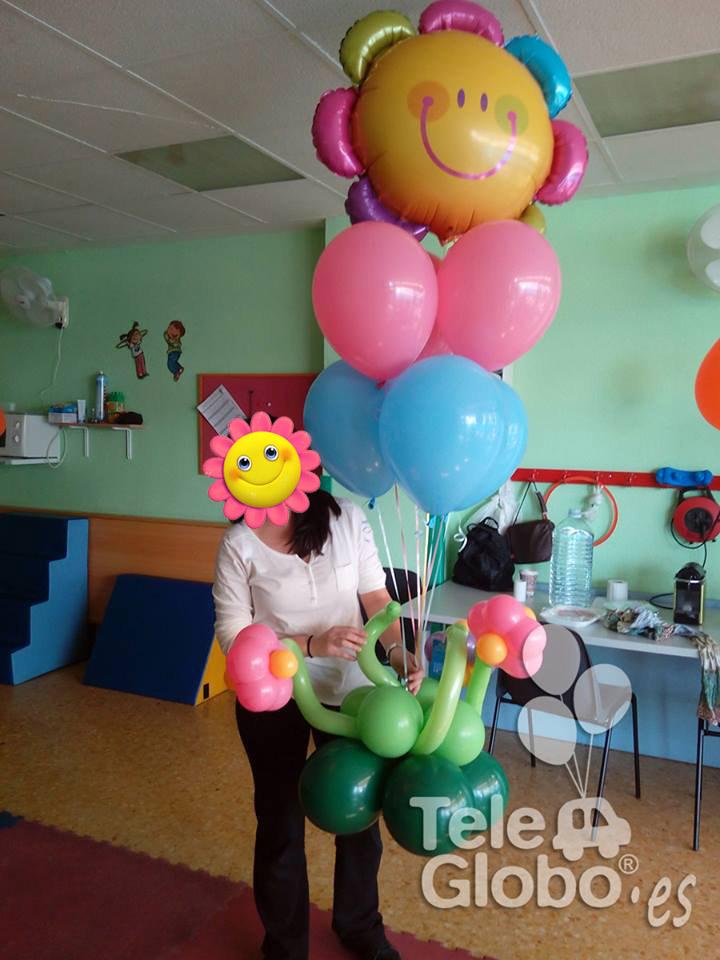 arreglo de globos de helio para cumpleaños