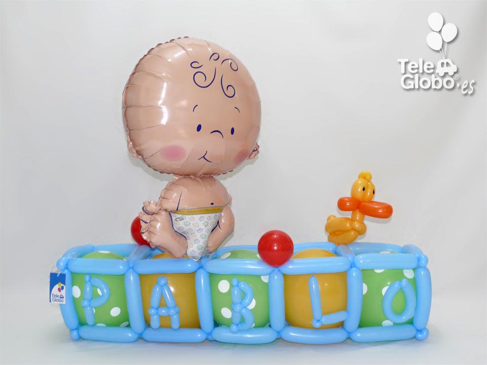 Figura de globos para recien nacido