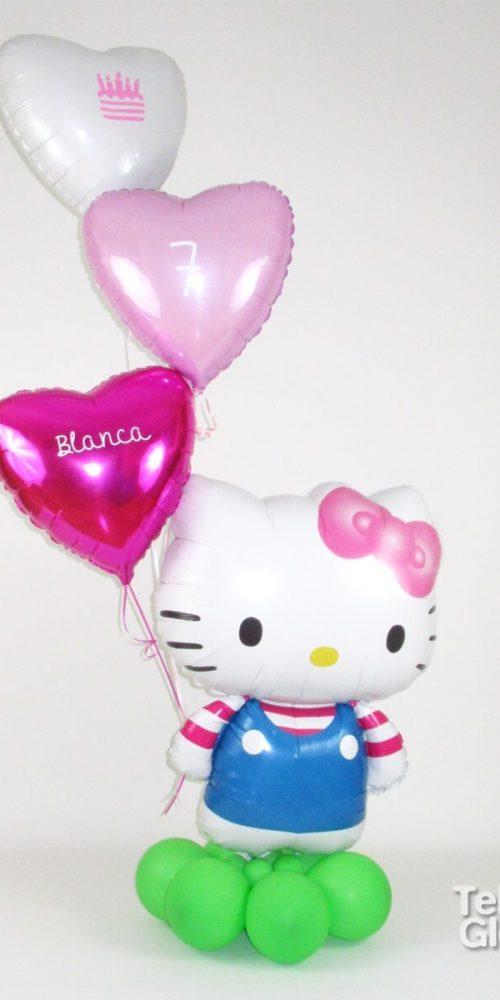 Arreglo de globos regalo 7 cumpleaños de Hello Kitty