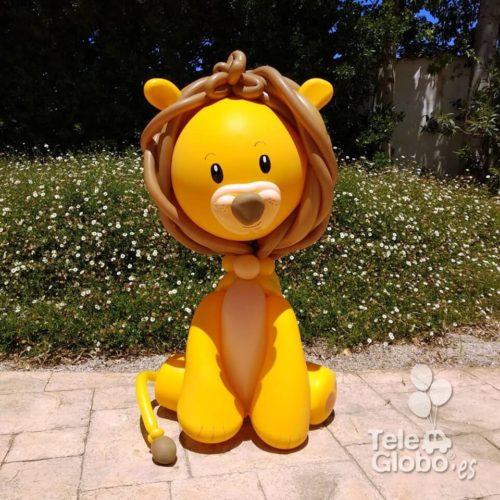 Escultura león de globos