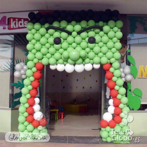 Arco de globos personalizado centro comercial Halloween MN4