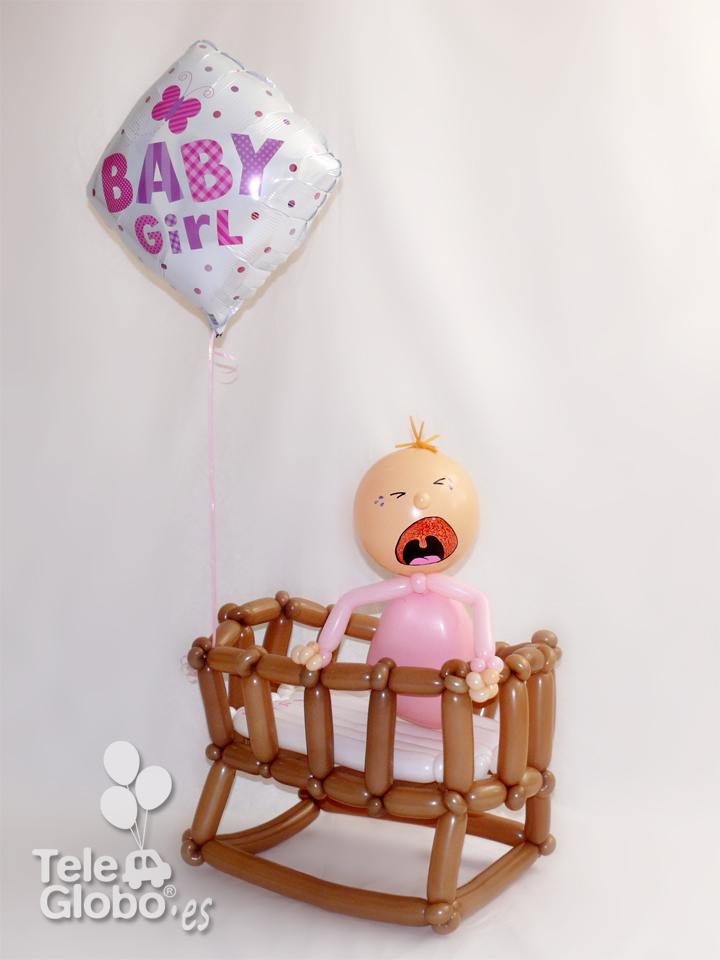escultura de globos nacimiento hospital La Fe Valencia