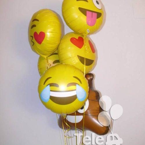 Ramo de globos emoji emoticonos