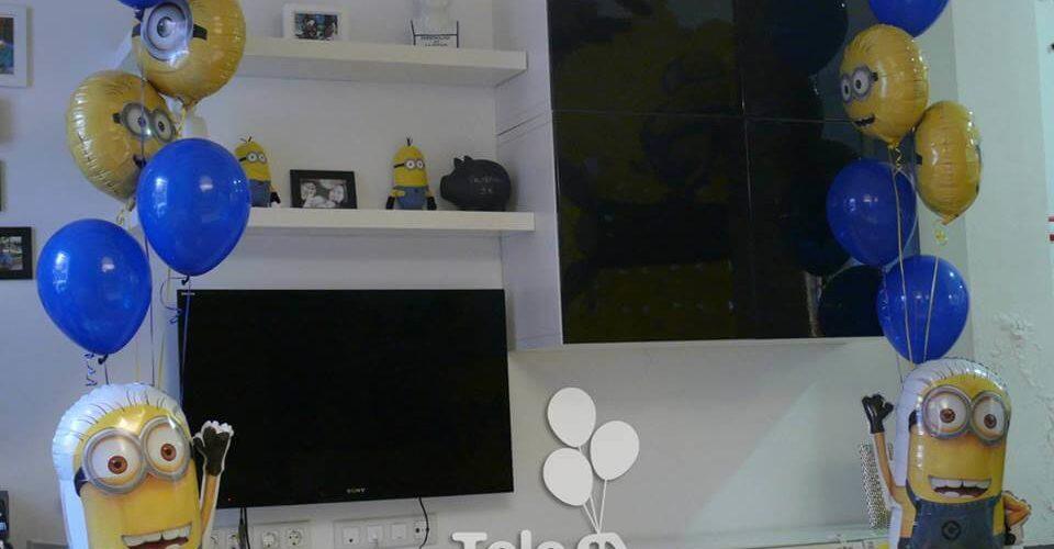 Ramo de globos personajes de animación