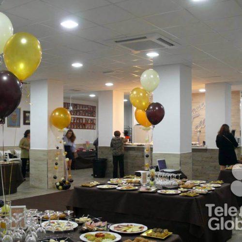 Centro de mesa 3 globos helio para presentación falleras