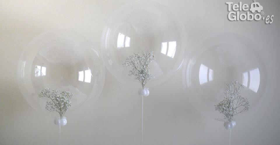 Centro de mesa burbuja con englobado de paniculata