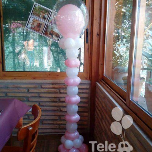 Columna de globos link primera comunión