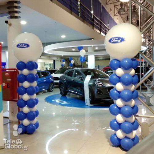 columna de globos personalizada concesionario ford montalt