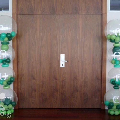 Columnas para decoracion de acceso en bautizo