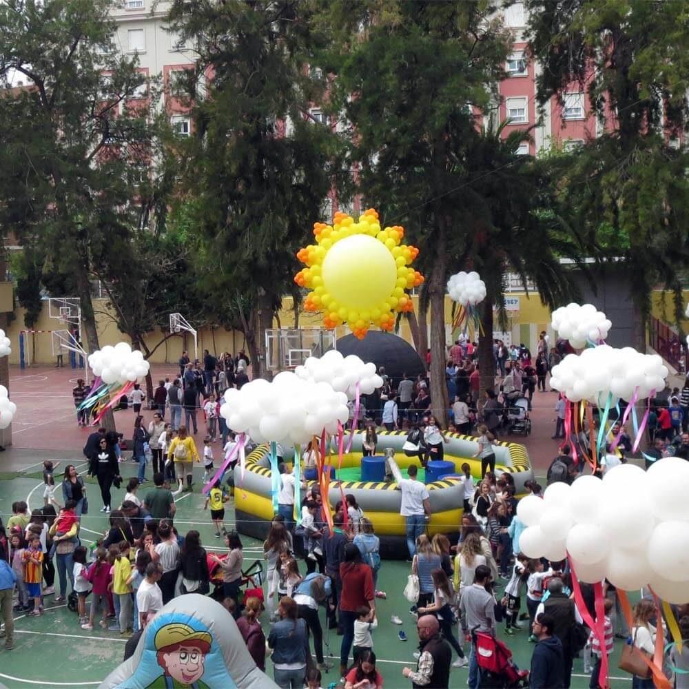 Decoración de globos día de la familia colegio Escolapias Valencia
