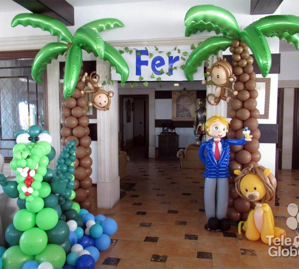 Decoracion comunion animales salvajes La Hacienda El Puig Valencia