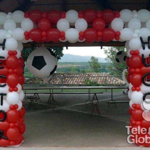 Arco de globos porteria de futbol