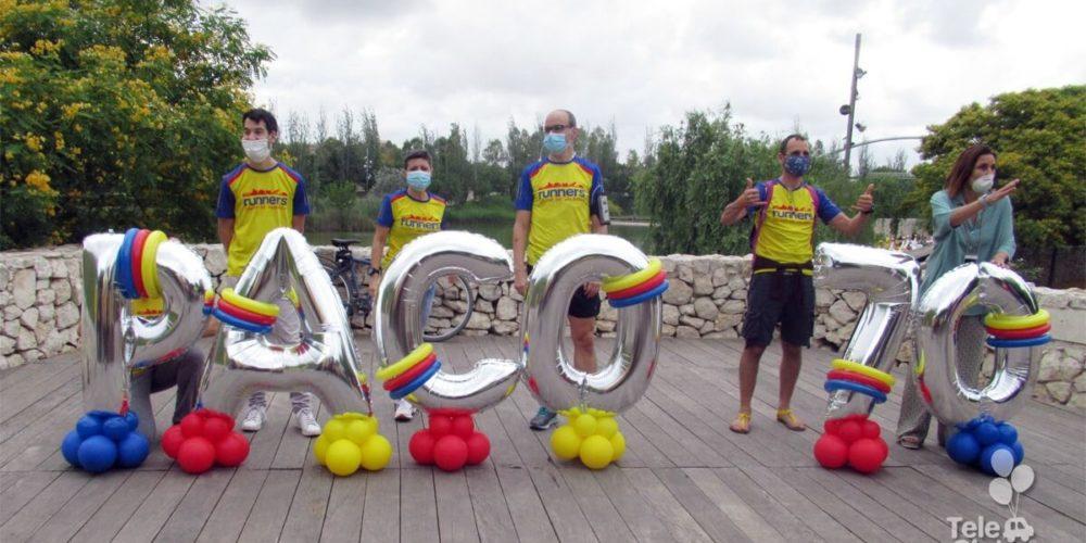 Photocall globos nombre y edad Runners Parque de Cabecera Valencia