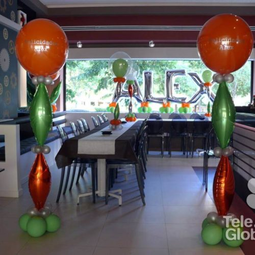 Globos fiesta cumpleaños 36 años 48 Restaurante Copas