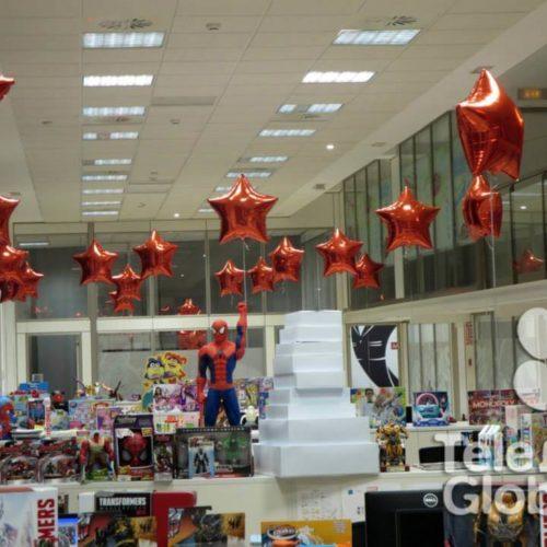 Decoración globos helio foil oficinas