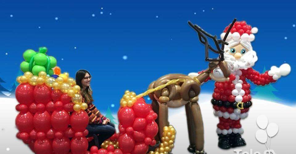 Papa Noel y su trineo feria de navidad Sueca