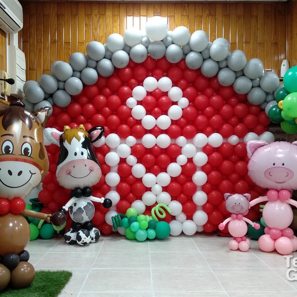 decoracion personalizada guardería animales de granja