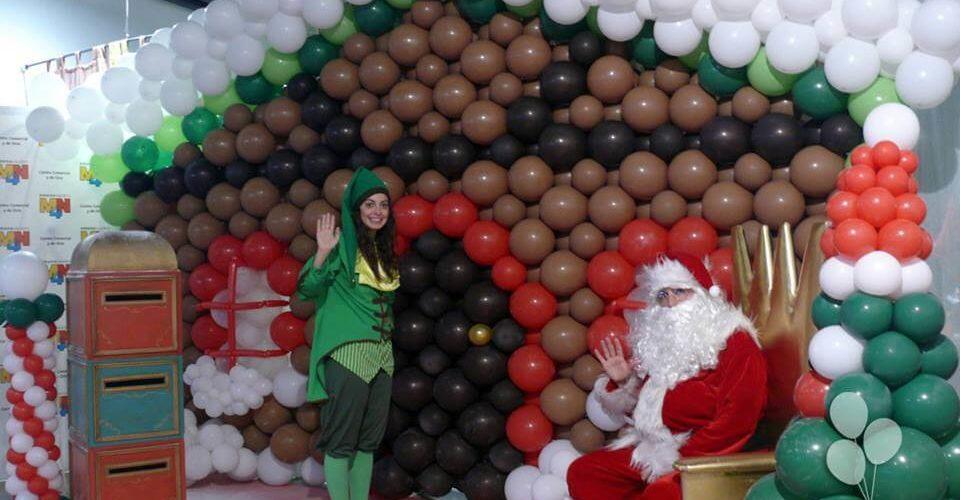 Casa de Papa Noel decoración Navidad centro comercial MN4 Valencia