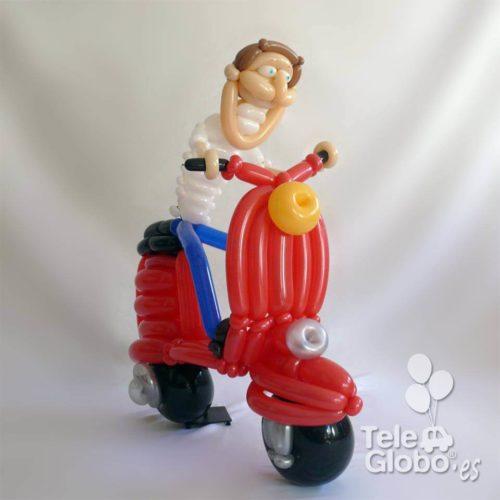 retrato globoflexia motorista regalo cumpleaños