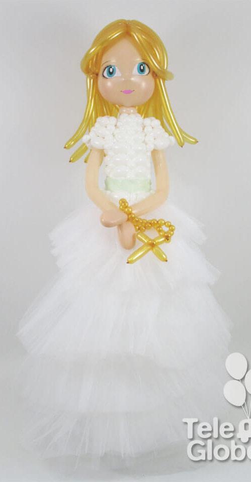 muñeca comunion globos personalizada 1
