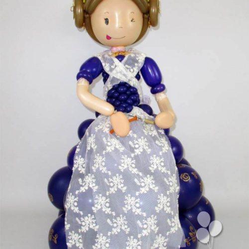 Muñeca fallera de globos traje completo