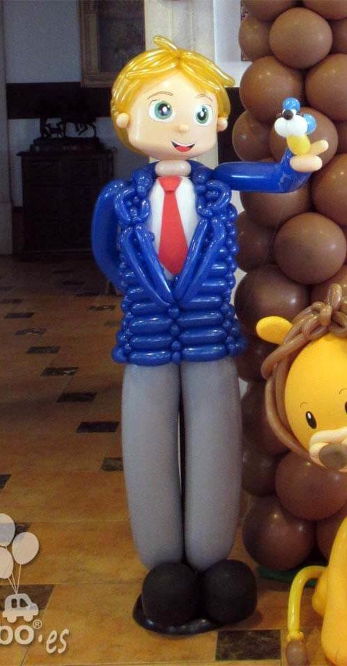 Muñeco comunion globos traje