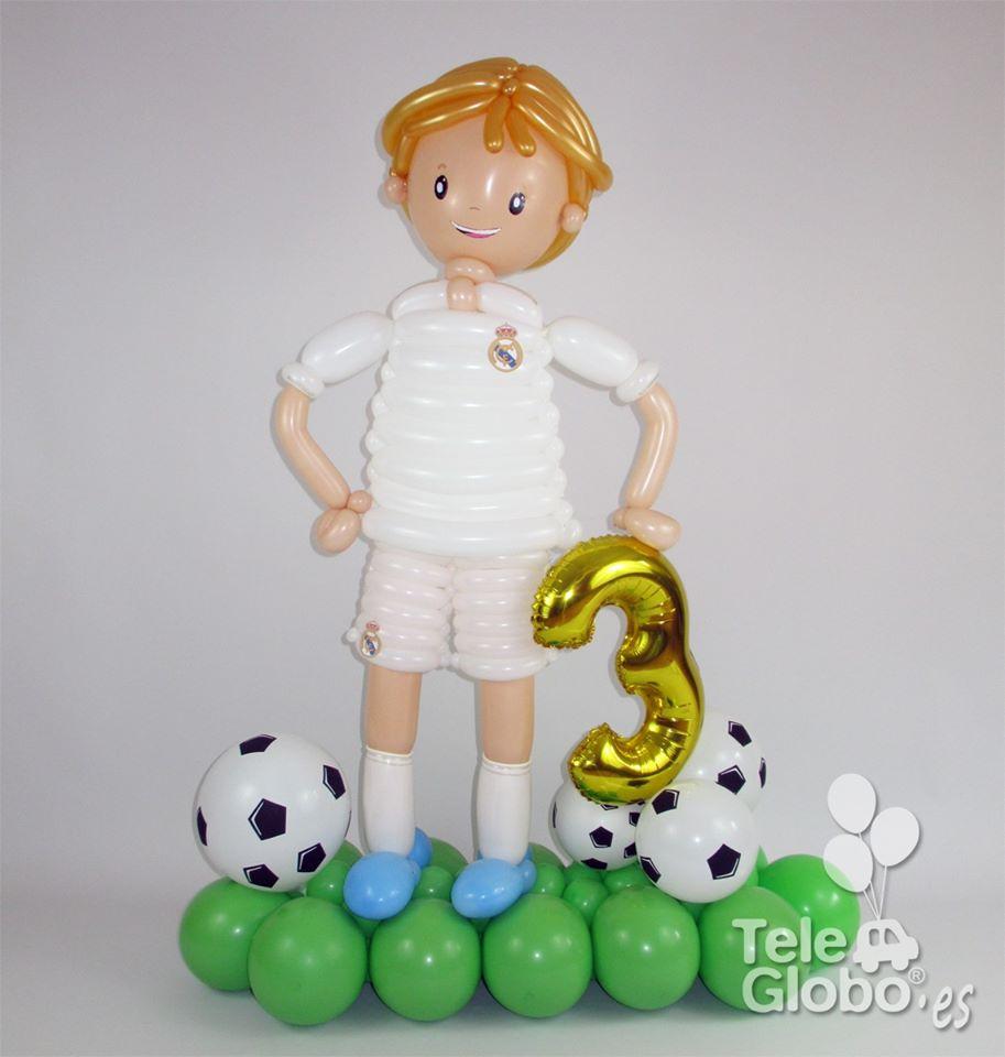 futbolista de globos real madrid