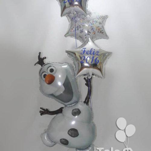 Bouquet globos de helio personajes de animación