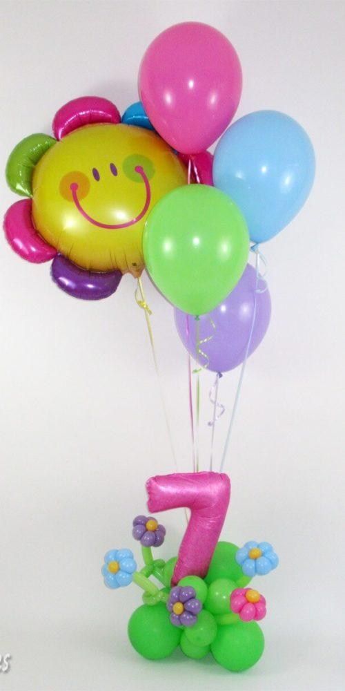 Arreglo de globos a domicilio para niña