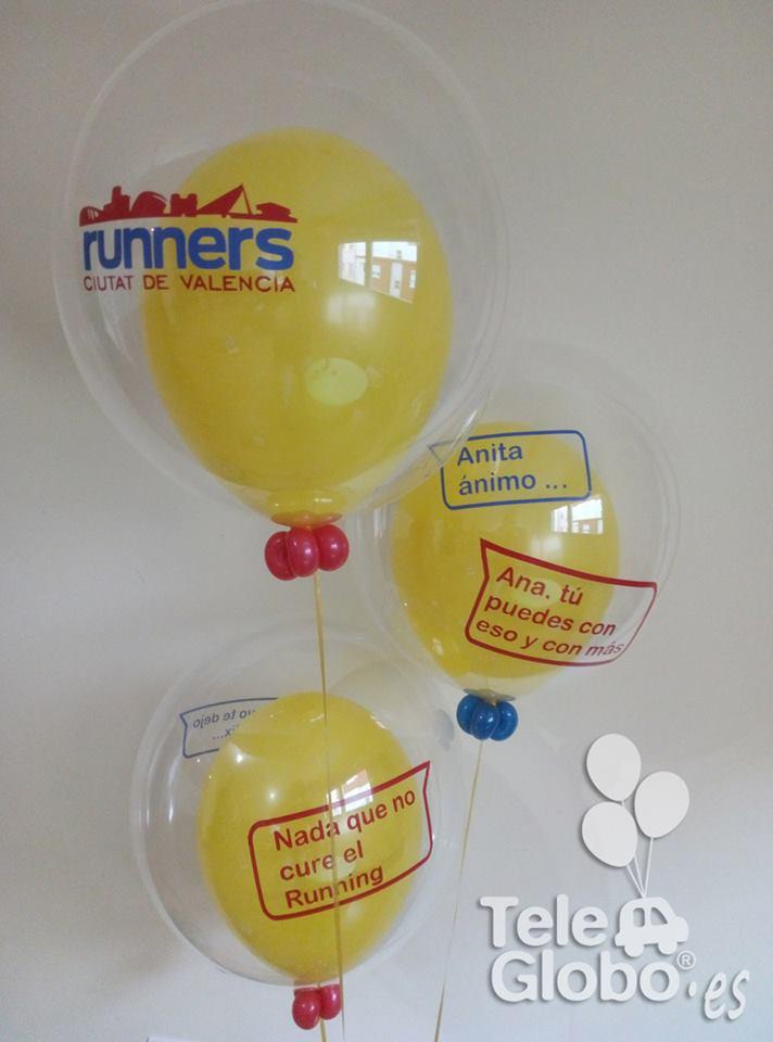 ramo de globos personalizado con dedicatorias