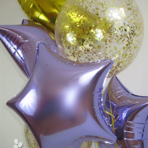 Bouquet globos helio con confeti